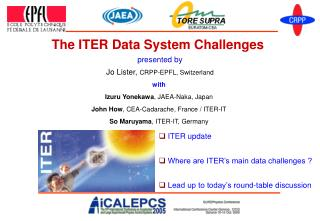 The ITER Data System Challenges