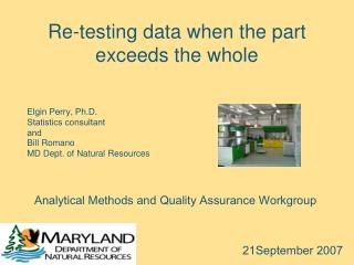 Re-testing data when the part exceeds the whole