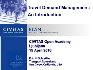 Travel Demand Management: An Introduction