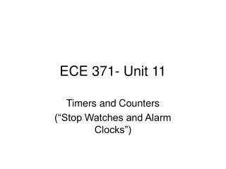 ECE 371- Unit 11