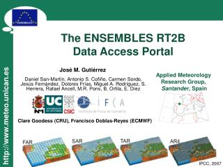 The ENSEMBLES RT2B  Data Access Portal
