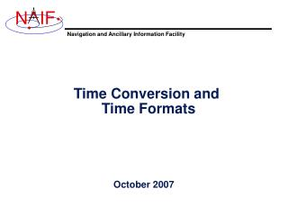 Time Conversion and  Time Formats