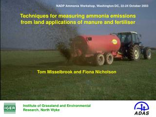 Techniques for measuring ammonia emissions from land applications of manure and fertiliser