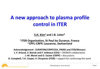 A new approach to plasma profile control in ITER