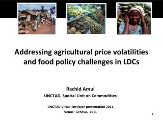 Addressing agricultural price volatilities and food policy challenges in LDCs