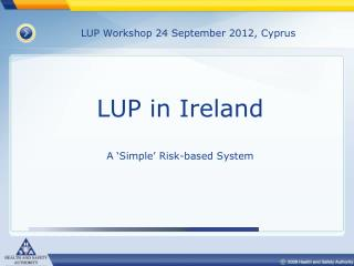 LUP Workshop 24 September 2012, Cyprus