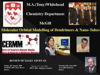 M.A.(Tony)Whitehead Chemistry Departmen t McGill