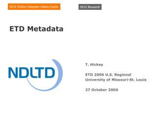 ETD Metadata