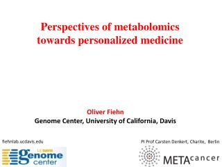 Perspectives of  metabolomics towards personalized medicine