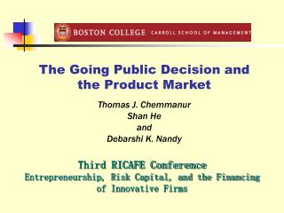 The Going Public Decision and the Product Market