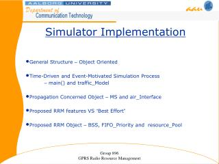 Simulator Implementation