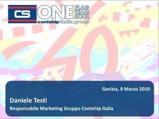 Daniele Testi Responsabile Marketing Gruppo Contship Italia
