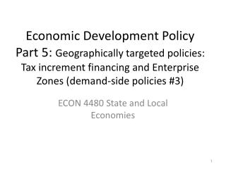 ECON 4480 State and Local Economies