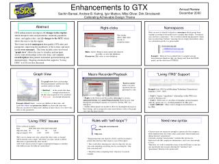 Enhancements to GTX
