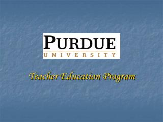 Teacher Education Program