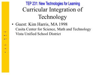 Curricular Integration of Technology