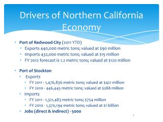 Drivers of Northern California Economy