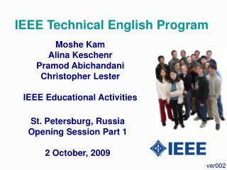 IEEE Technical English Program