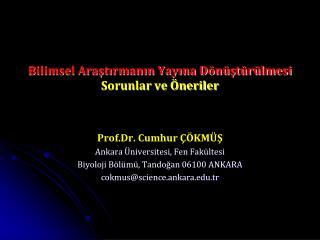 Bilimsel Araştırmanın Yayına Dönüştürülmesi  Sorunlar ve Öneriler