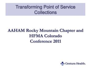 Transforming Point of Service Collections