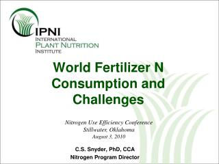 World Fertilizer N Consumption and Challenges