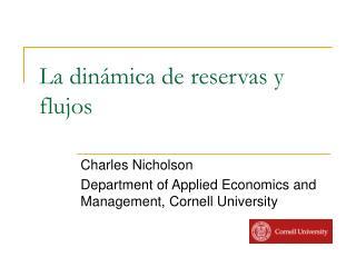 La dinámica de reservas y flujos