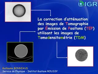 Guillaume BONNIAUD  Service de Physique - Institut Gustave ROUSSY