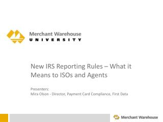 New IRS Reporting Rules – What it Means to ISOs and Agents