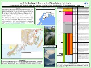 An Online Stratigraphic Column of Kenai Fjords National Park, Alaska
