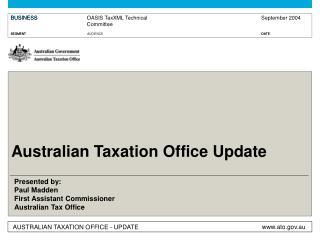 Australian Taxation Office Update