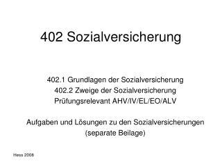 402 Sozialversicherung