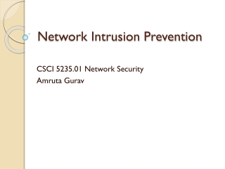 Distributed Firewalls Through Intrusion Detection
