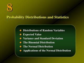 Distributions of Random Variables Expected Value Variance and Standard Deviation