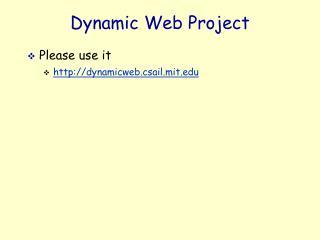 Dynamic Web Project