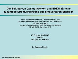 Der Beitrag von Gaskraftwerken und BHKW f�r eine