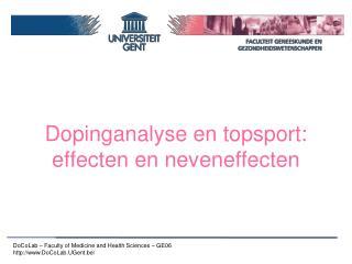 Dopinganalyse en topsport: effecten en neveneffecten