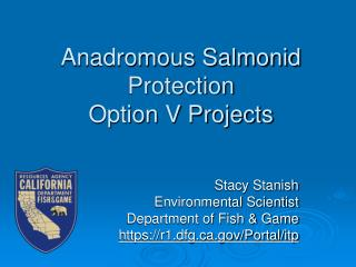Anadromous Salmonid Protection  Option V Projects
