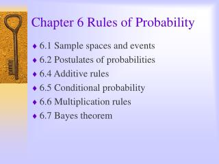 Chapter 6 Rules of Probability