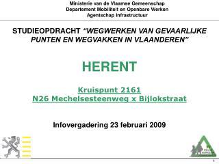 Ministerie van de Vlaamse Gemeenschap Departement Mobiliteit en Openbare Werken