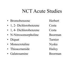 NCT Acute Studies