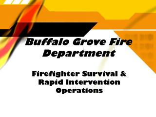 Buffalo Grove Fire Department