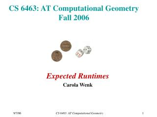 CS 6463: AT Computational Geometry Fall 2006