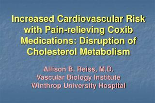 Increased Cardiovascular Risk with Pain-relieving Coxib