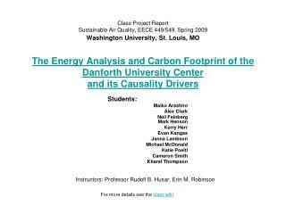 Instructors: Professor Rudolf B. Husar, Erin M. Robinson