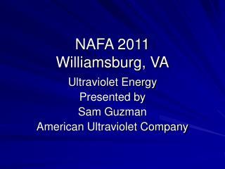 NAFA 2011 Williamsburg, VA