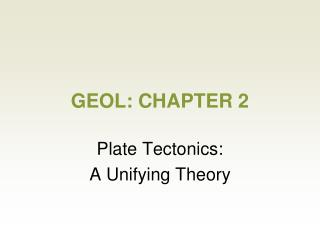 GEOL: CHAPTER 2