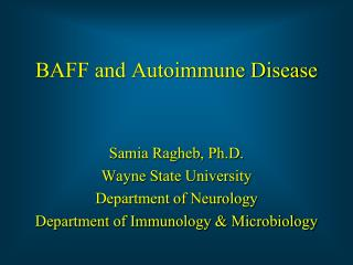 BAFF and Autoimmune Disease