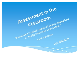 Self-assessment and  Peer-assessment in the English Language Classroom