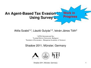 An Agent-Based Tax Evasion Model Calibrated Using Survey Data