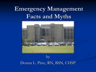 Emergency Management Facts and Myths